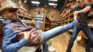 Download CMT's Ed Bassmaster Show: Dustin Lynch and Mumbles Boot Shopping Prank Video