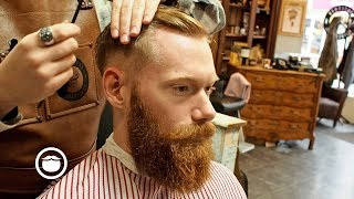 Download Barber Shows How to Give an Executive Contour Haircut Video