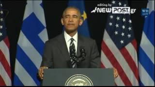 Download Ομιλία Ομπάμα στο «Σταύρος Νιάρχος» 2 Video