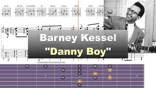 Download Barney Kessel - ″Danny Boy″ (Londonderry Air) - Virtual Guitar Transcription by Gilles Rea Video