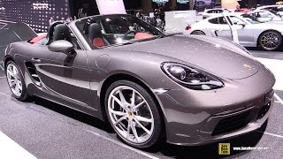 Download 2017 Porsche 718 Boxster - Exterior and Interior Walkaround - Debut at 2016 Geneva Motor Show Video