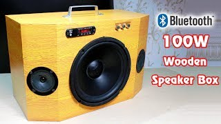 Download How to make 100W WOODEN BLUETOOTH SPEAKER BOX Video
