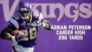 Download Adrian Peterson Highlights from Career-High 296-Yard Game | Chargers vs. Vikings (2007) | NFL Video