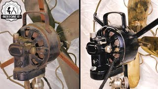 Download Antique 1920's Marelli Table Fan - [Restoration] Video