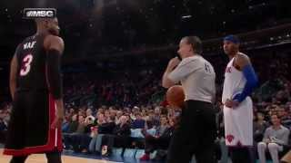 Download Carmelo Anthony vs Kenn Mauer (referee) in Miami Heat-New York Knicks Video