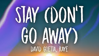 Download David Guetta - Stay (Don't Go Away) (Lyrics) ft. RAYE Video