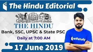 Download 7:00 AM - The Hindu Editorial Analysis by Vishal Sir | 17 June 2019 | Bank, SSC, UPSC & State PSC Video