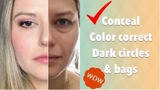 Download How To Conceal Dark Under Eye Circles and Bags | NO CREASING Video