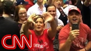 Download Trump supporters flip CNN the bird Video