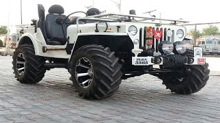 Download Indian Offroads 4x4 Custom Modified Jeeps Mahindra Classic, Thar, Willys, Wrangler Pics Compilation Video