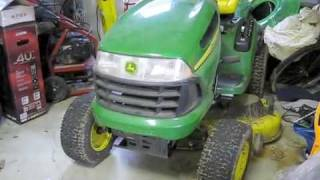 Download John Deere LA130 Riding Lawnmower Start Up, Engine and Full Tour Video
