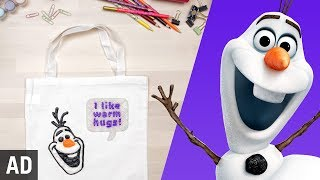 Download Olaf Tote Bag | Disney DIY Video