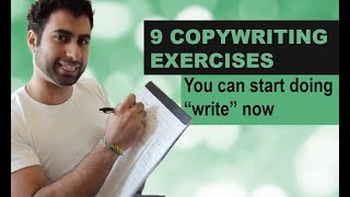 """Download 9 Copywriting Exercises you can start doing """"write"""" now Video"""
