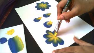 Download How to make basic one stroke painting strokes- explained for begginers Video