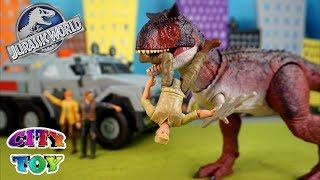 Download Figuras de acción Jurassic World El Reino Caído Camión y giro giroesfera Video
