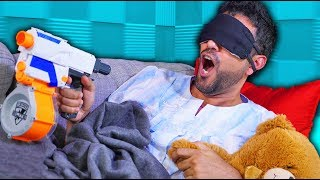 Download NERF Don't Wake Daddy Challenge! [Ep 3] Video