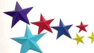 Download DIY Paper Craft Ideas - How to make easy 3D paper star / Paper decoration / Julia DIY Video