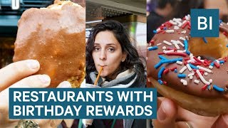 Download Where To Get Free Food For Your Birthday Video