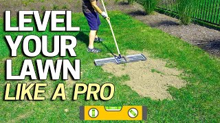 Download How to Level Your Lawn Like a Pro - Tool for Sand Soil Or Peat Top Dressing Video