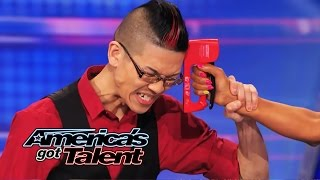 Download Rogue: Magician Plays Russian Roulette Game with Mel B - America's Got Talent 2014 Video
