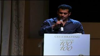 Download Salman's Brilliant Speech For Sachin Tendulkar Video