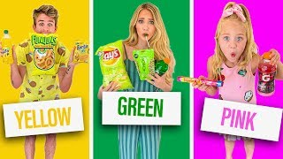 Download EATING ONLY ONE COLORED FOOD FOR 24 HOURS Video