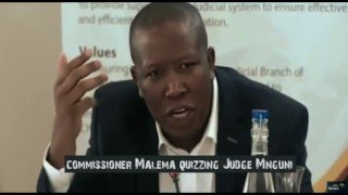 Download Commissioner Malema quizzing Judge Mnguni at The Judicial Service Commission judges Interviews Video