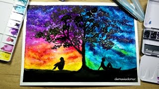 Download Two Different Worlds - Speed Painting [Watercolor & Ink] Video