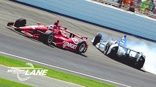 Download Dario Franchitti, Takuma Sato Battle into Turn 1 in 2012 Indianapolis 500 Video