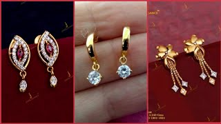 Download Top Beautiful Minimalist Gold Earrings And Gold Stud Designs Video