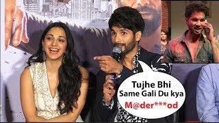 Download Shahid kapoor Funny Reaction On His Gaali (Madr**od )In Kabir Singh Movie | Kabir Singh Trailer Video