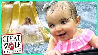 Download FIRST TIME AT GREAT WOLF LODGE INDOOR WATERPARK! Video