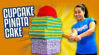 Download Giant Cupcake Piñata Cake Filled with MINI Fingerlings   How To Cake It Video