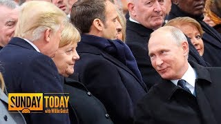 Download President Trump, Vladimir Putin Greet Each Other In Paris | Sunday TODAY Video