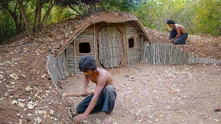 Download Build House underground Using wood | Primitive technology , Building Skill Video