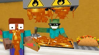 Download Monster School: WORK AT TACO PLACE! - Minecraft Animation Video