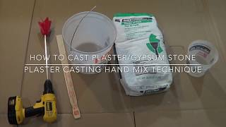 Download How to cast plaster/gypsum stone, plaster casting hand mix technique Video