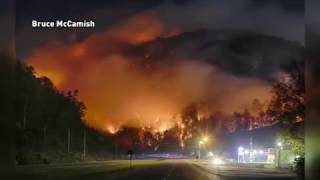 Download Wildfire situation in Gatlinburg. FULL VIDEO Video