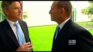 Download Tony Abbott's bizzarre 28 second silence following ″Shit Happens″ comment Video