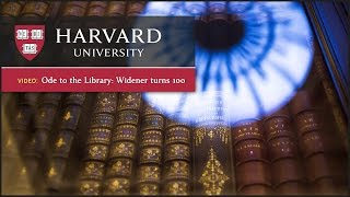 Download Ode to the Library: Widener Turns 100 Video