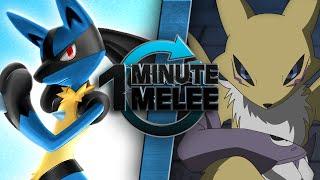 Download One Minute Melee - Lucario vs Renamon (Pokémon vs Digimon) Video
