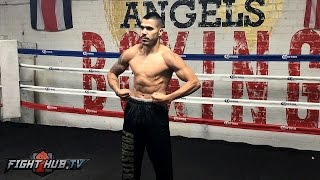 Download Jesus Cuellar shows off ripped physique in Media Workout! - Cuellar vs. Mares video Video