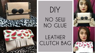 Download EVER THOUGHT OF MAKING LEATHER CLUTCH WITHOUT SEWING OR GLUING? (Diy Clutch) Video