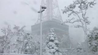 Download Sapporo, Hokkaido 2016 November 6, the day of this year's first heavy snow. Drive around city. Video