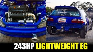 Download FAST 243HP K24 LIGHTWEIGHT CIVIC STREET RACING & ROLL RACING Video