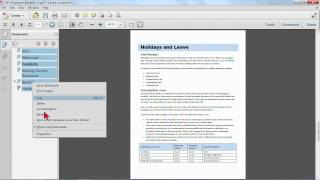 Download Adobe Acrobat X Tutorial: Setting up Bookmarks | K Alliance Video
