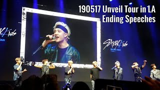 Download 190517 Stray Kids Ending Ments - Unveil Tour in LA Video