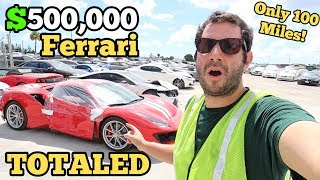 Download I Found a $500,000 Ferrari 488 Pista SITTING at a Salvage Auction! Only 100 Miles on it NOW TOTALED! Video