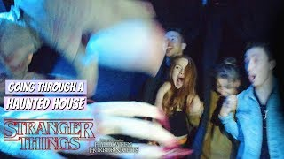 Download Going Through The Stranger Things Haunted House in VR 180 | Madelaine Petsch Video