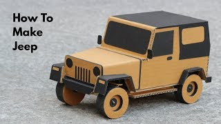 Download How To Make RC Jeep From Cardboard || Very Simple (PART - 1) Video